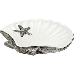 India Ink Seashell Soap Dish