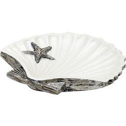 India Ink Seashell Soap Dish