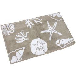 Cosmic Sea Life Collage Bath Rug