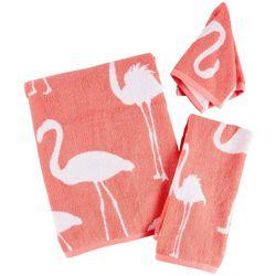 Panama Jack Flamingo Jacquard Bath Towel Collection