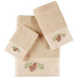 Panama Jack 3-pc. Embroidered Canopy Leaves Towel Set