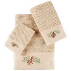 Panama Jack 3-pc. Embroidered Canopy Leaves Towel Set