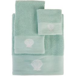 Panama Jack 3-pc. Embroidered Clam Shell Towel Set