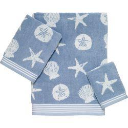 Avanti Island Shell Jacquard Bath Towel Collection