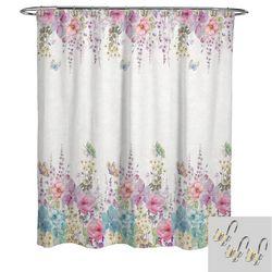Avanti Meadow Shower Curtain & Hook Set