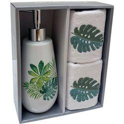 Avanti 3-pc. Palm Leaf Lotion Dispenser & Towel Set