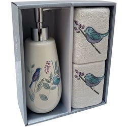 Avanti 3-pc. Sweet Song Lotion Dispenser & Towel Set