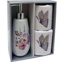 Avanti 3-pc. Meadow Lotion Dispenser & Towel Set