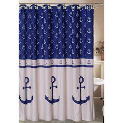 Caribbean Joe Rockport Shower Curtain & Hook Set