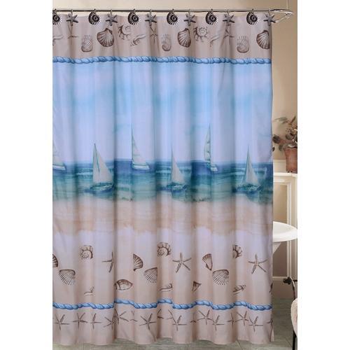Caribbean Joe Seaside Shower Curtain Hook Set