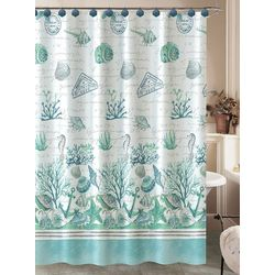 Caribbean Joe Salt, Sand, & Sea Shower Curtain