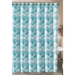 Beatrice Home Fashions Starfish Shower Curtain & Hook Set