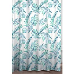 Caro Home Palm Sea Glass Shower Curtain