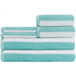 Caro Home Rugby Stripe 6-pc. Towel Set
