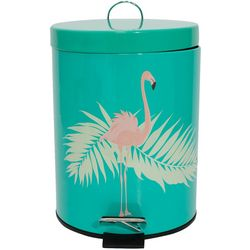 Home Collections Flamingo Palm Leaf Step Wastebasket