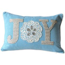 Debage Embroidered Joy Sand Dollar Decorative Pillow