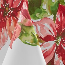 Benson Mills Poinsettia Luxe Tablecloth