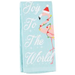 Homewear Joy To The World Flamingo Kitchen Towel
