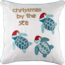 Brighten the Season Swimming Turtles Decorative Pillow
