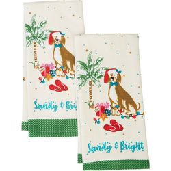 Happy Holiday 2-pk. Holiday Beach Dog Kitchen Towels