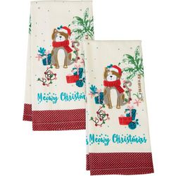 Happy Holiday 2-pk. Holiday Beach Cat Kitchen Towels