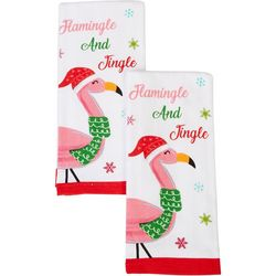 Happy Holiday 2-pk. Flamingle and Jingle Kitchen Towels