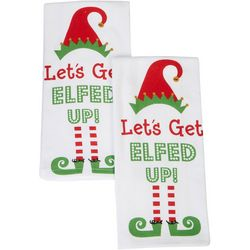 Happy Holiday 2-pk. Let's Get Elfed Up Kitchen Towels