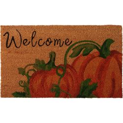 Brighten The Season Welcome Pumpkins Coir Mat