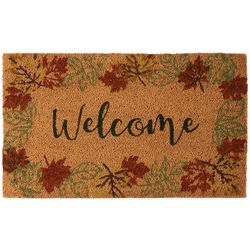 Brighten The Season Welcome Foliage Melody Coir Mat