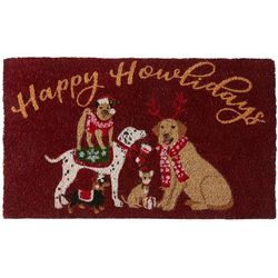Brighten the Season Happy Howlidays Coir Mat