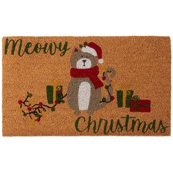 Brighten the Season Meowy Christmas Coir Mat