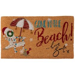 Brighten the Season Gone To The Beach Coir Mat