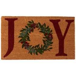 Brighten the Season Joy Coir Mat