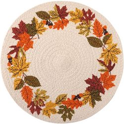Arlee Braided Fall Wreath Placemat