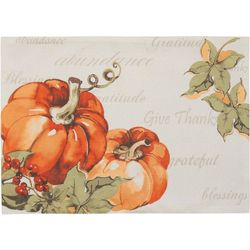 Arlee Bountiful Pumpkin Placemat