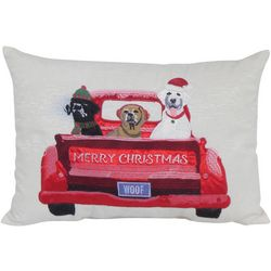 Arlee Merry Christmas Dogs Decorative Pillow