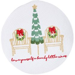 Arlee Christmas Breeze Braided Round Placemat