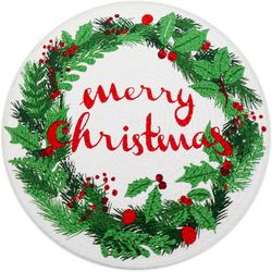Arlee Merry Christmas Braided Round Placemat