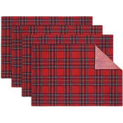 Arlee 4-pc. Christmas Tartan Placemat Set