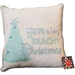 Cosmic Beachy Christmas Decorative Pillow