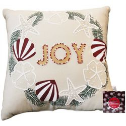 Cosmic Joy Wreath Decorative Pillow