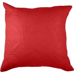 Brighten the Season Red Venice Euro Pillow