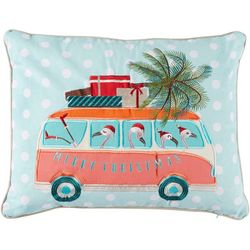 Brighten the Season Flamingo Mobile Decorative Pillow