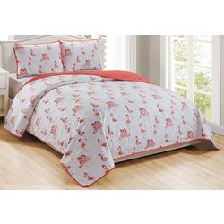 Brighten the Season Flamingo Holiday Quilt Set
