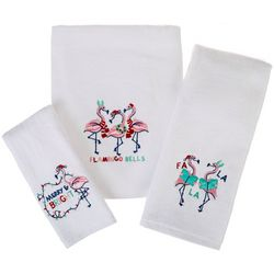 Brighten the Season Flamingo Bells Towel Collection
