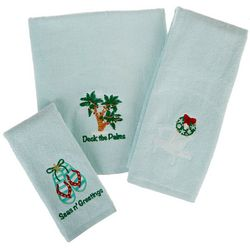 Brighten the Season Deck The Palms Towel Collection