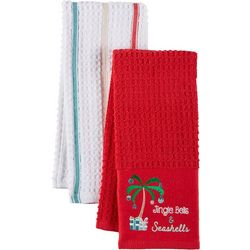 ATI 2-pc. Jingle Bells & Seashells Kitchen Towel Set