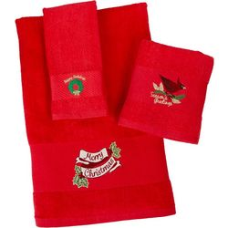 Brighten the Season Classic Christmas Bath Towel Collection
