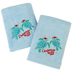 Brighten the Season 2-pk. Christmas Turtles Hand Towel