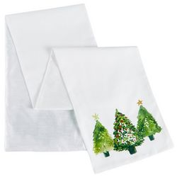 Thro Watercolor Trees Table Runner
